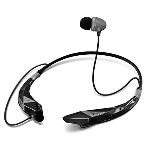 Aduro Amplify Pro SBN45 Wireless Stereo Bluetooth Around The Neck Earbud Headphone Headset (Black/Gray)