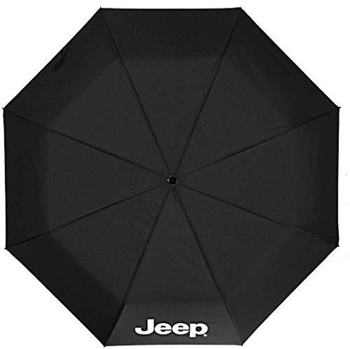 Auto-faltender Regenschirm-Reise-Regenschirm Automatischer offener Regenschirm ergonomischer Griff mit Jeep-Logo Winddichte Sonnenschirm Amazing