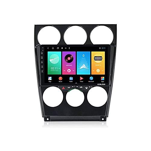 Android 9.0 Coche Estéreo GPS Navegación para Mazda 6 2006-2015 Unidad de cabeza 1080P 9 pulgadas Pantalla táctil Player Multimedia Radio de navegación Bluetooth / SWC / WiFi / Espejo Enlace / FM, 4 n