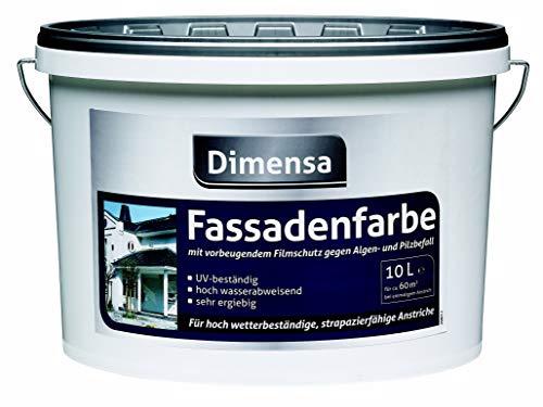 Fassadenfarbe weiß gegen Algen & Pilzbefall | Hausfassaden-Farbe weiss Hausfarben | 5 Liter