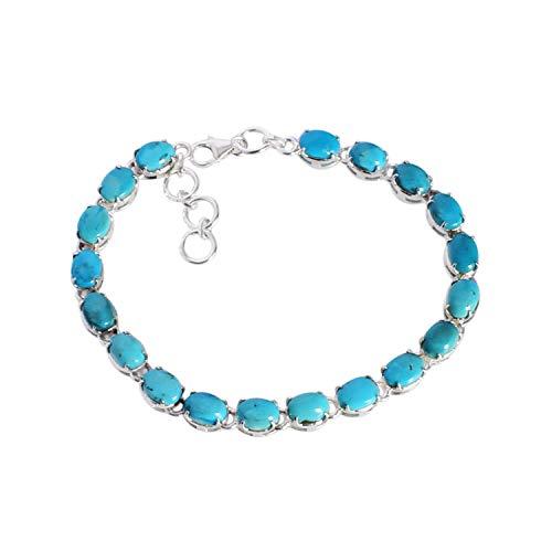 Ravishing Impressions Jewellery Pulsera de plata de ley 925 de excelente calidad, turquesa de Arizona, joyería de diseño, regalo para ella FSJ-5030