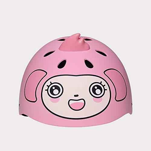 Kinderreithelm Baby Balance Auto selbstfahrenderAutoschutzhelm Jungen und Mädchen Sportschutzkappe-Pink Monkey