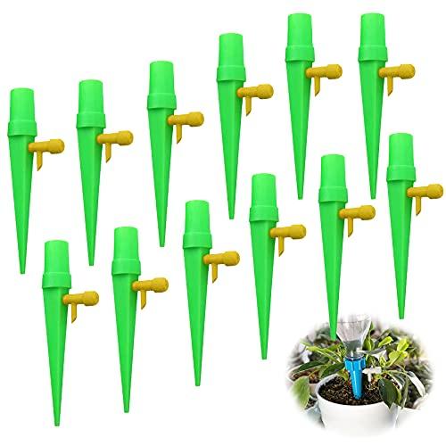 LYYDAN - Set di 12 dispositivi di irrigazione automatica per piante, con valvola di controllo, innaffiatura automatica per piante da appartamento