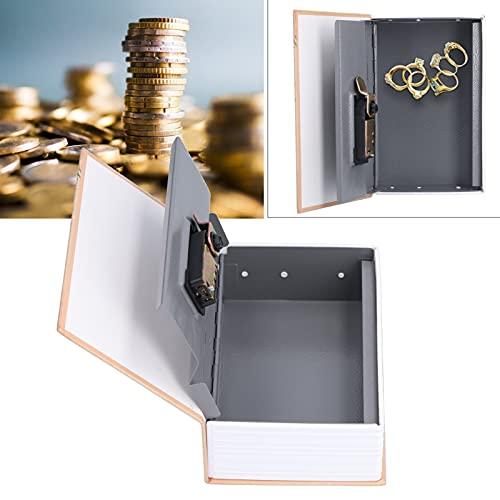 Caja de Seguridad, Caja de colección Mini Libro portátil Caja de Seguridad para Dinero en Efectivo para joyería para Tarjeta