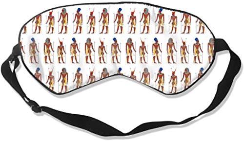 Lichtgewicht Comfortabel Oogmasker - Natuurlijke Zijde Slaap Masker Blok Uit Licht - Verstelbare Oogschaduw Blinddoek voor Nacht Slapen/Reizen/Nap - Egyptische Farao Patroon Stijl Oogdekking