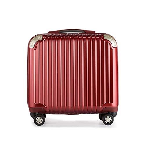 Cooralledtooere Conveniente y práctico, más Espacio de Almacenamiento, Maleta con Ruedas, Maleta Ideal para un Viaje, Maleta de embarque (Color : Red, Size : 18 Inches)