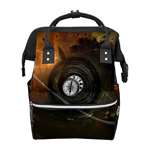 Diaper Bag Backpack Venice Steeple City Apocalyptic Multifunction Travel Back Pack Baby Changing Bags Large Capacity Waterproof Stylish