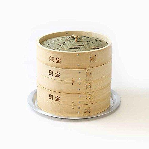 照宝 中華せいろ 蒸し板セット 竹 φ21cm