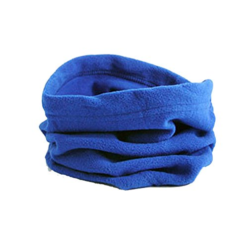 Kaiki Free Blau 477676 (Warme Feinstrick Beanie Mütze mit Sehr Weichem Fleece Innenfutter Unisex Women's Knitted Headband with Beads, Metallic Yarn and Knots, Headband)