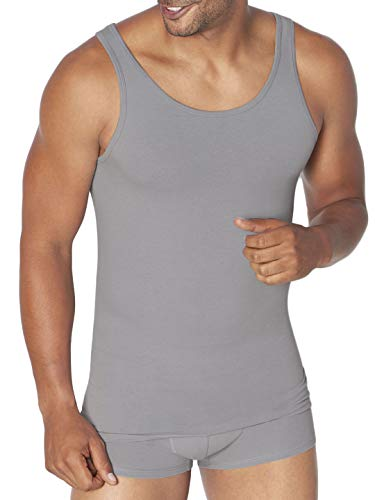 Sloggi GO ABC H Tank Top Camiseta, Gris (Stone Grey 00gr), M (Pack de 2) para Hombre