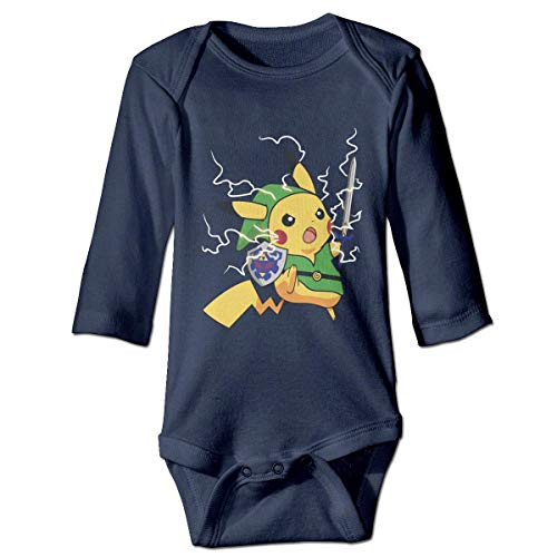 Funny Club Luckva Baby's The Legend of Zelda Long Sleeve Romper Climbing Clothes Navy -0-3 Months