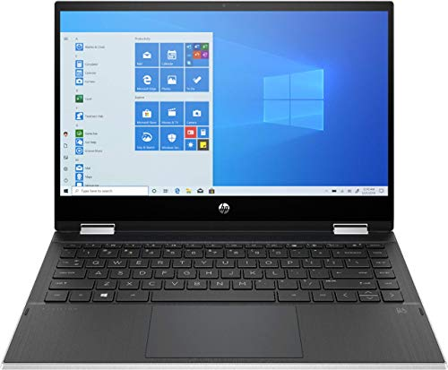 HP Pavilion x360 2-in-1 14' HD Touch-Screen Laptop, Intel Core i3-1005G1, HDMI, USB-C, Wi-Fi, Webcam, Bluetooth, Natural Silver, Intel UHD Graphics, Windows 10 (32GB RAM | 512GB SSD) (Renewed)