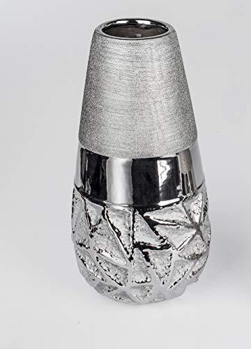 formano Vasenpaar in Silber Größe 26 oder 36 cm frei wählbar (36 cm)