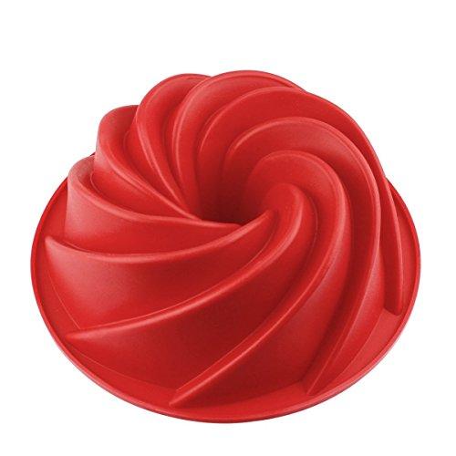 Hanseatic Consumables Gugelhupf Backform BESONDERE EINZIGARTIGE Form | KANTIG | 25x9cm Antihaftbeschichtet | BPA freies Lebensmittel Silikon | Top Qualität | geschmacks- & geruchsneutral