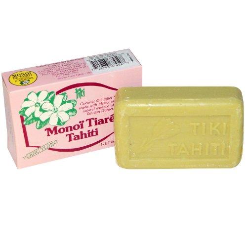 Jabón de aceite de coco, Ylang Ylang perfumado, 4,55 oz (130 g)...