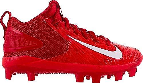 Nike Kids& 039; Force Trout 3 Pro Mid Baseball Cleats (rot Weiß, 2)