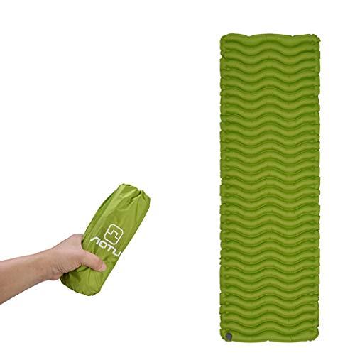 CapsA Camping Sleeping Pad Inflatable Moisture-Proof Sleeping Pad Tent Mat Camping Mattress Ultra-Compact Camping Sleeping Pad Ultralight Sleeping Mat for Backpacking Hiking Camping Traveling (Green)