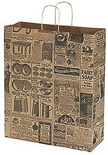 """Jumbo Newsprint Paper Shopping Bags - 16""""L x 6""""D x 19""""H - Case of 100"""