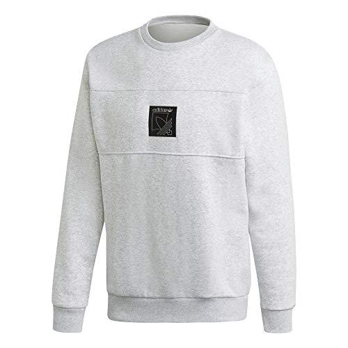 adidas SPRT Icon Crew Sweatshirt, Light Grey Heather, 2XL Mens