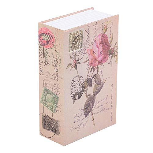 Book Safe Box, Creative Book Safe Box Colección de joyas de dinero Estuche de almacenamiento con cerradura de combinación Para dinero privado, cartas de amor, diarios secretos(Rosa)