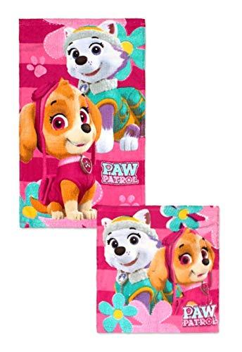 Theonoi 2 Teile - Kinder Handtuch Set – wählbar: Paw l – 100% Baumwolle - Handtuch/Gesichtstuch und Waschlappen (Paw 02)