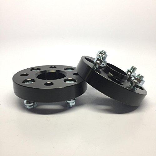 2 Pieces 1' 25mm Hub Centric with Hub Lip Wheel Spacers Bolt Pattern 4x100 Center Bore 57.1mm Thread Pitch 12x1.5 For Chevy Chevette Charger Caravan SC SC1 SC2 Neon Ion Cobalt G5 Colt Storm Prizm