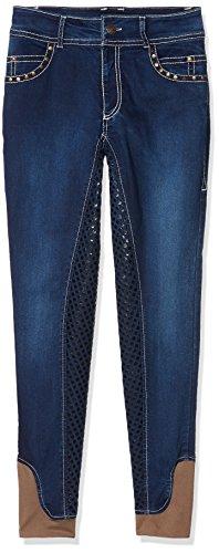 HKM Erwachsene Hose Reithose -Pasadena-Summer Denim Silikon-Vollbesatz6100 jeansblau158, 6100 jeansblau, 158, HKM 4057052015144