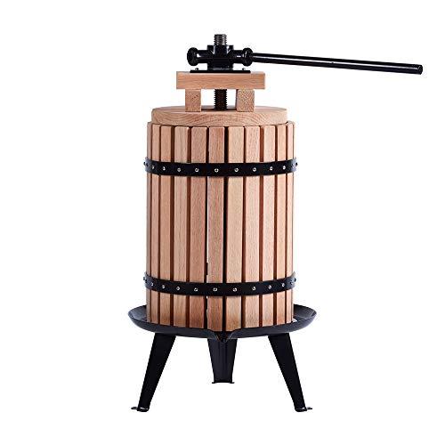 Sistema de husillo de madera de roble y acero, 6, capacidad de 22,30 litros (6 litros)