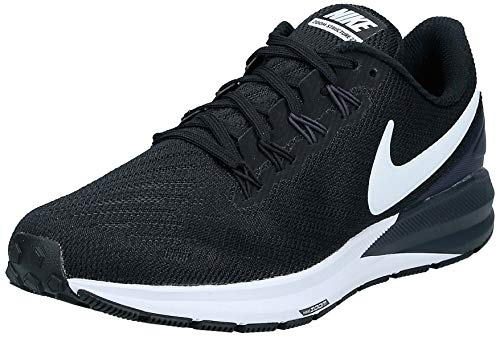 Nike W Air Zoom Structure 22, Zapatillas de Running para Asfalto para Mujer, Multicolor (Black/White/Gridiron 002), 40.5 EU
