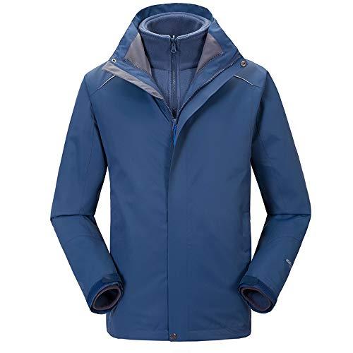 LOYFUN Skianzüge für Herren, zweiteilig, Herbst und Winter, große Größe, einfarbig, Skibekleidung, Verdickung, Sportbekleidung, Drei-in-Eins-Jacke, Damen (Farbe: C2 (Herren), Größe: XXXL)