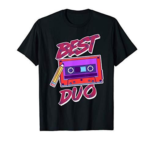 Best Duo Video Musik Kassette Bleistift Retro Geschenk T-Shirt
