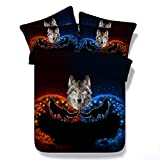 zpangg Ice and Fire Wolf Totem (Funda nórdica + Funda de Almohada) Ropa de Cama para Adultos Ropa de Cama Conjuntos de Ropa de Cama