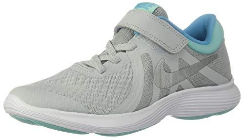 Nike Mädchen Revolution 4 (PSV) Sneaker, Pure Platinum Metallic-Silber