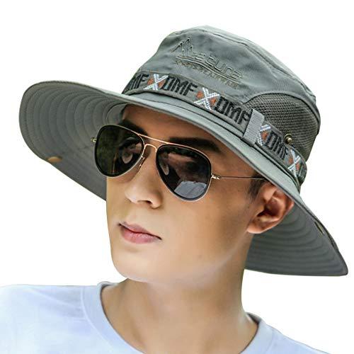 Xinjieda Les Hommes de pêche Chapeau Respirant été Protection UV Coton pêche Cap Unisexe Couple Cap Fashion Casual Hat Sun-Preuve