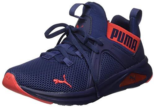 PUMA Enzo 2 Weave Jr Sneaker, Peacoat-High Risk Red, 39 EU