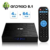 Android 8.1 TV BOX, T9 Smart Box with 4GB RAM 64GB ROM RK3328