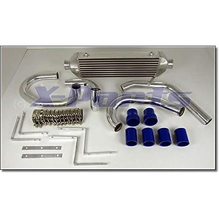 Ladeluftkühler Einbauset Alu Rohr Schlauch 57mm 32teile Auto