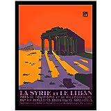 Vintage illustrierte Reise Poster Syrien Libanon Leinwand