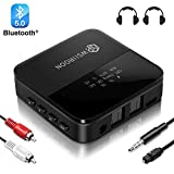 wsiiroon Bluetooth Adapter 5.0 Transmitter Empfänger 2 in 1 mit High Definition und...