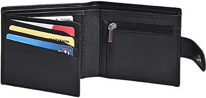 Eono by Amazon RFID - Portefeuilles en Cuir - Porte-Monnaie Mince avec Poche à Monnaie à glissière pour Homme (Noir)