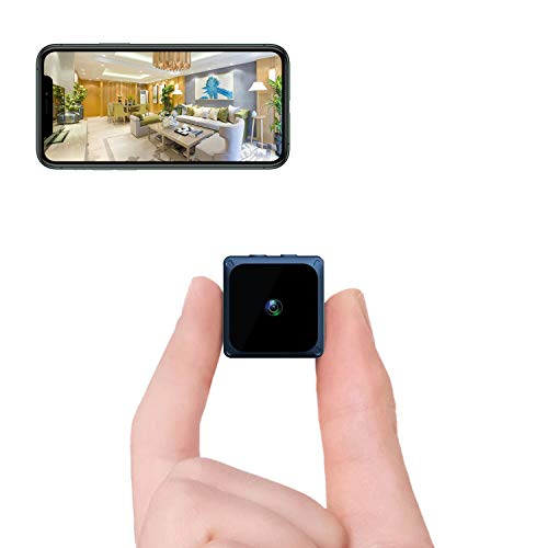 Hertekdo Mini Cámara Espía, WiFi Cámara Espía 1080P HD Mini Cámara con Visión Nocturna Detección de Movimiento Control Remoto Niñera Grabadora de Video Ideal para Monitoreo...