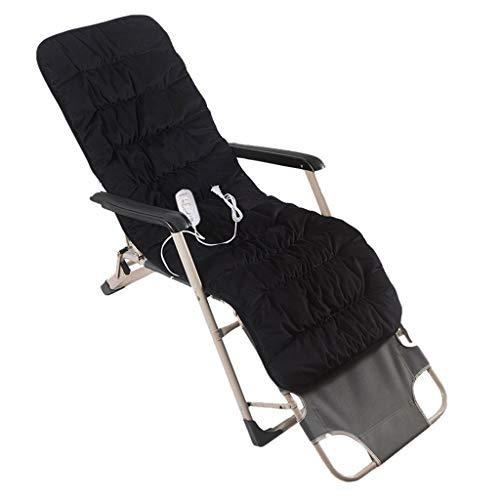 OCYE Crystal Velvet zitkussen voor bureaustoel, elektrische verwarmingskussens met snelle verwarming, temperatuurverstelbaar, thermostaat, 150 × 50 cm