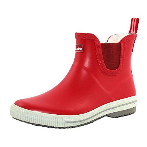 derbe Wattpuuschen Unisex Erwachsene Gummistiefel Regenstiefel, Rot, 41 EU