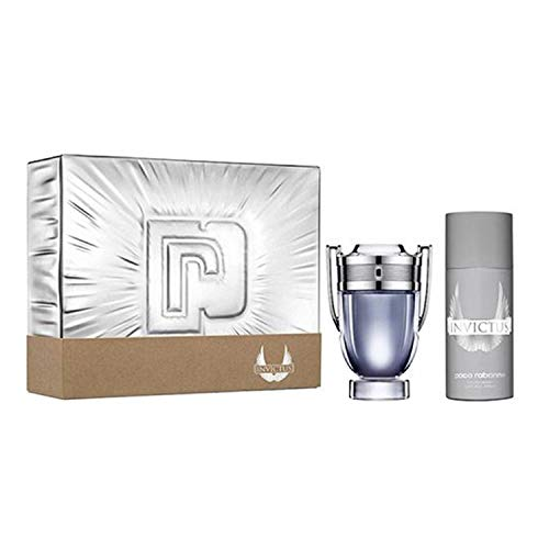 Paco rabanne invictus eau de toilette 100ml + desodorante spray 150ml + miniatura