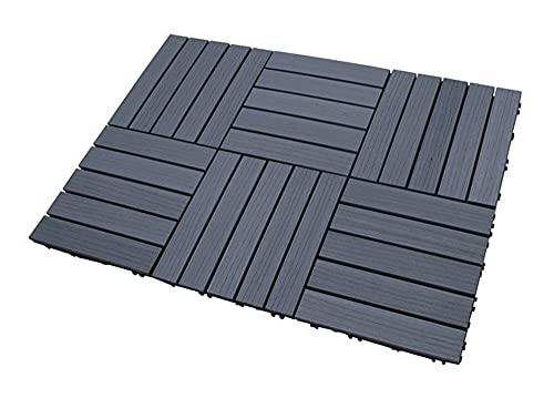 SORARA Azulejos de la terraza | Gris | 30 x 30 cm | 6 Azulejos