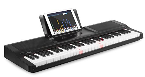 The ONE Music Group Smart Lighted Keys, Electronic Piano Keyboard, Onyx Black, 61 Portable (TOK1B)