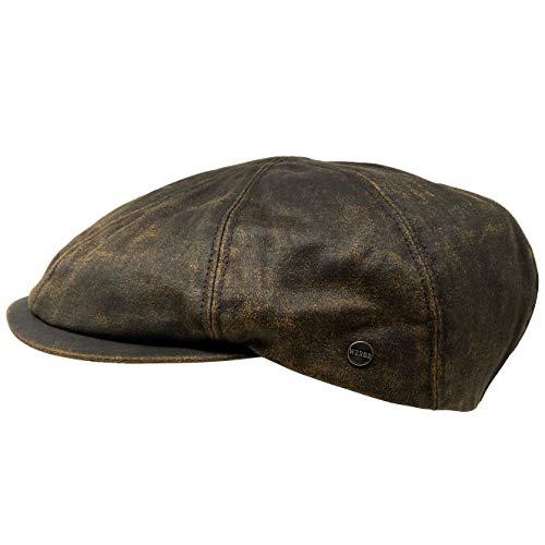 WEROR Herren Schiebermütze Schildmütze Flatcap Schirmmütze Mütze 303.1 (Braun, 61 cm)