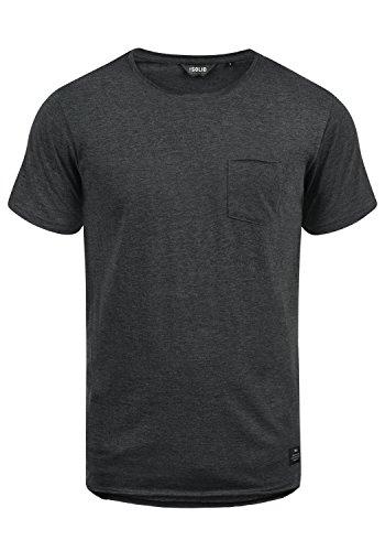 !Solid Andrej Herren T-Shirt Kurzarm Shirt Mit Rundhalsausschnitt Aus 100% Baumwolle, Größe:XL, Farbe:Dark Grey Melange (8288)