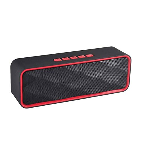 YUYANDE Altavoz Bluetooth inalámbrico portátil, Altavoz Bluetooth Subwoofer al Aire Libre Rectángulo de Sonido Inteligente (Color : D)