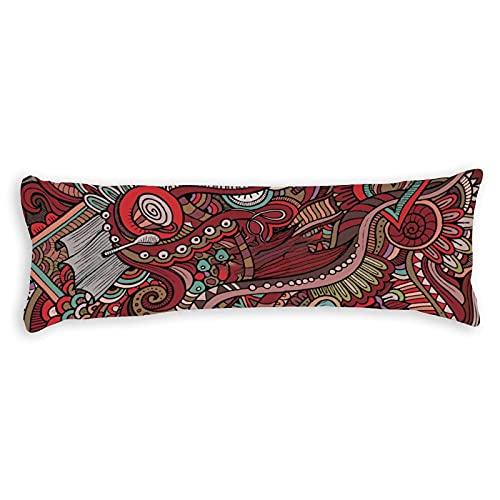 Funda de almohada para el cuerpo, 150 x 50 cm, con cremallera, diseño europeo, funda de almohada de algodón, suave para embarazo, niños, adultos, color blanco